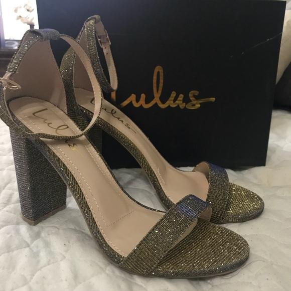 5aceac3bc48 Lulus Sandals- Metallic Ankle Strap Heels